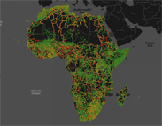 African Road Map - Yellows & Greens
