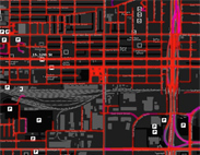 Heat Map Lines - Pheonix Roads - Zoomed In/Increased Blur