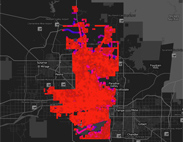 Heat Map Lines - Phoenix Roads