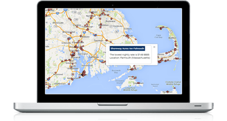 Interactive map with hover and click popups